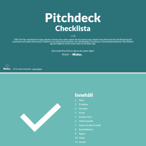 Pitch-checklista